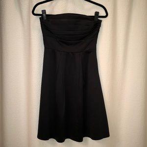 White House Black Market satin strapless dress